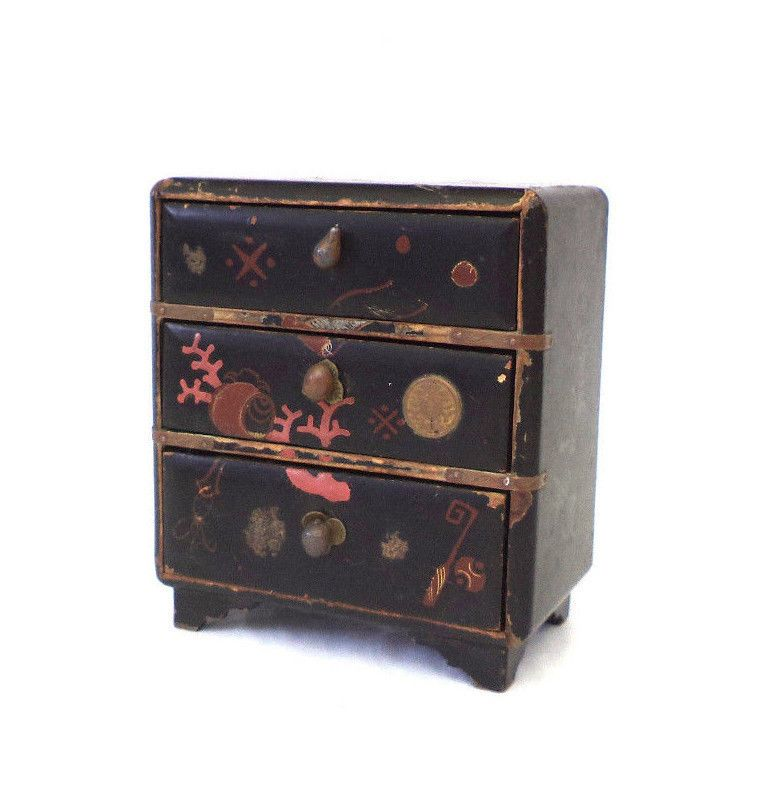Inspirational Japanese Black Lacquer Cabinet