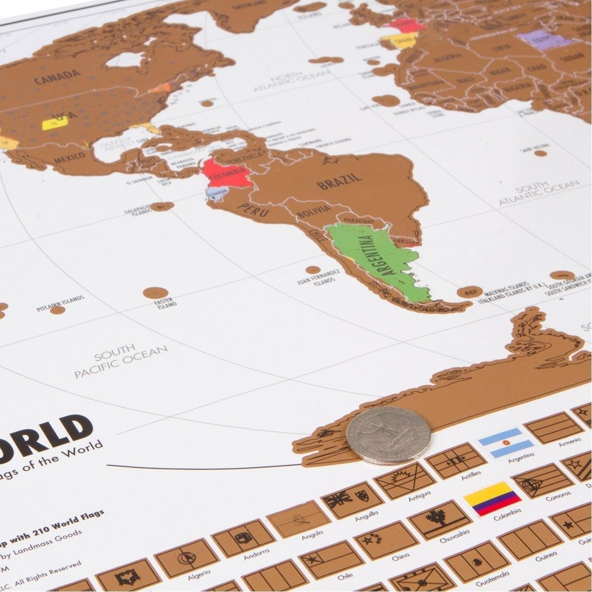 A Map With Scratchoff Countries And States So You Can Mark Off - Us states i ve been to map