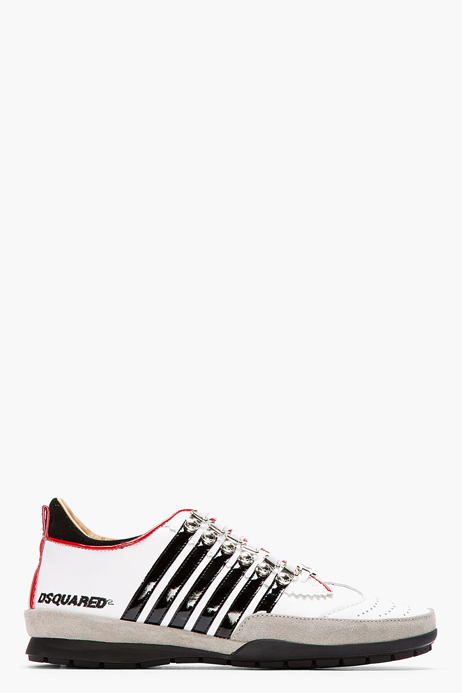 DSQUARED2 White Leather Vitello Sport Sneakers · Shoes MenShoes ...