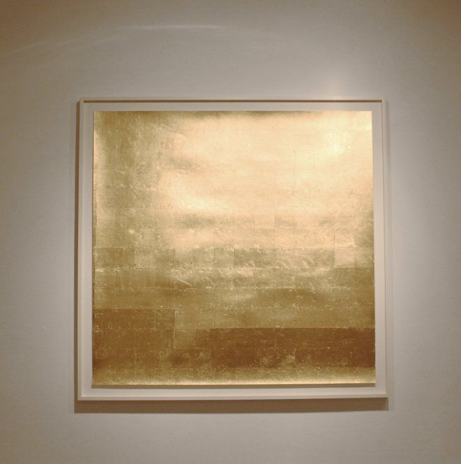 sarah van sonsbeeck, gold leaf and pencil on paper