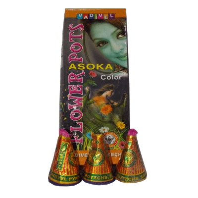 Color Flowerpot Asoka Buy fireworks, Birthday fireworks