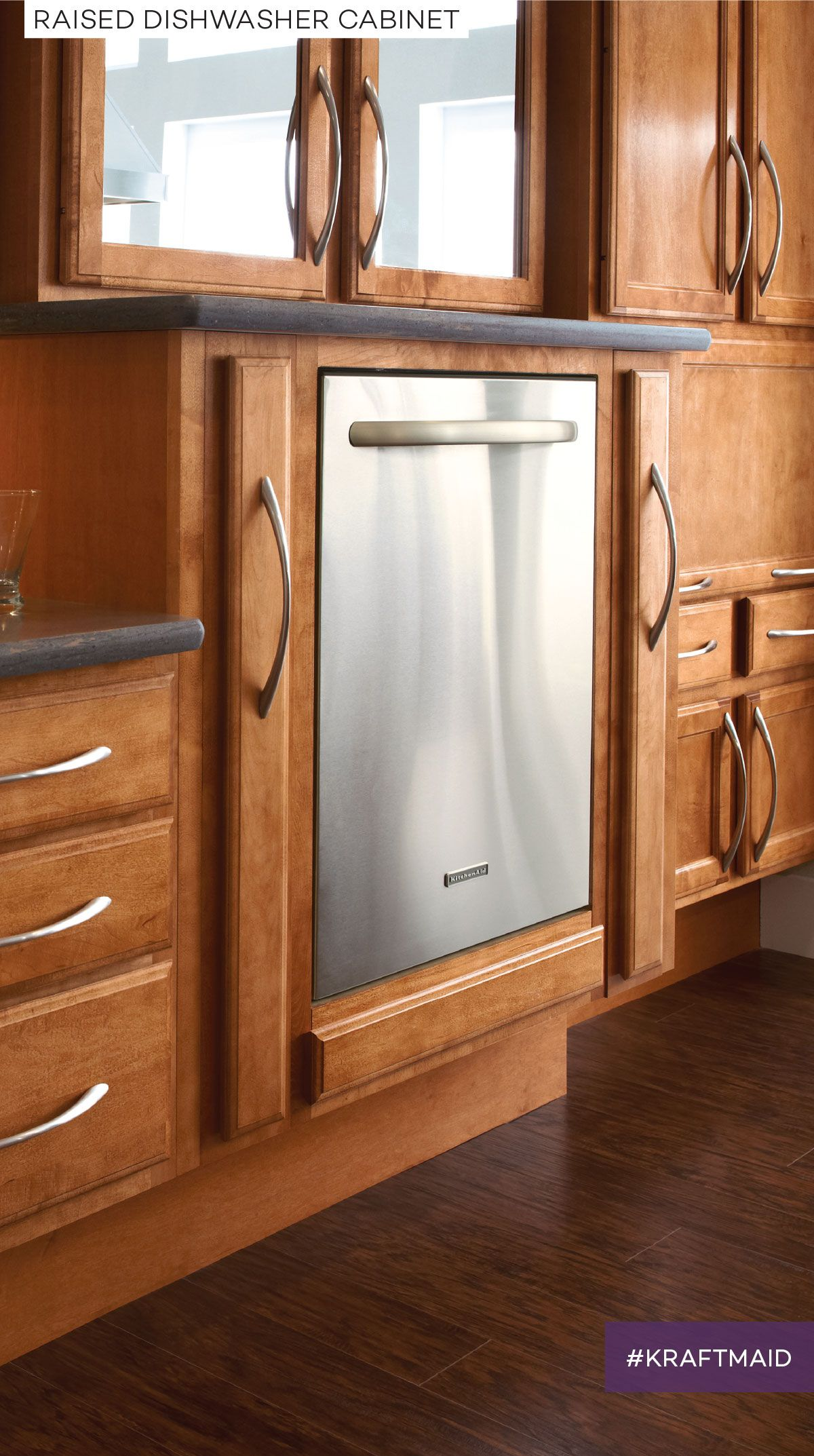 With KraftMaid cabinets you can have your appliances installed at