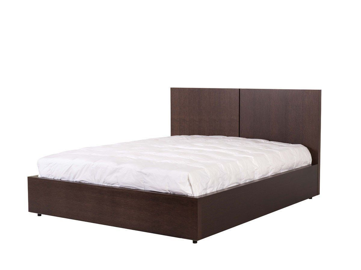 aurora bed king size w mattress support chocolate products