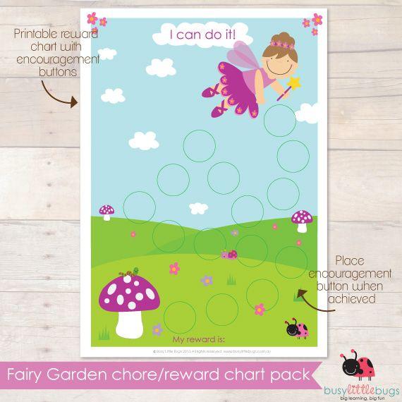 Fairy-Garden-Reward-Chartjpg 570×570 pixels Super cute walls - printable rewards charts