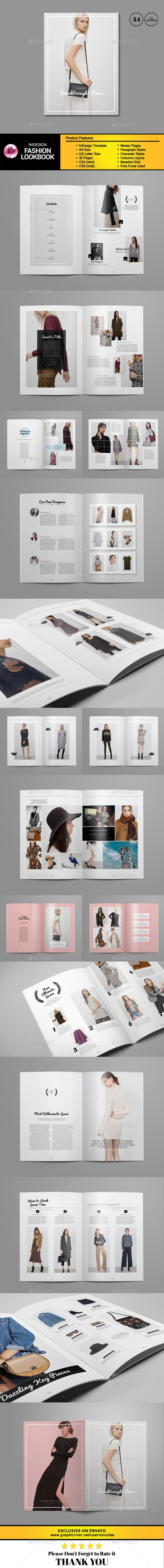 Fashion Lookbook Magazine 32 Pages Template InDesign INDD Design Download