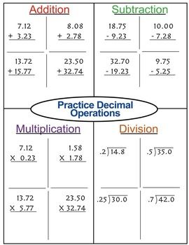 Rules of Decimals Lesson Freebie with Guided Notes | vvsm | Pinterest