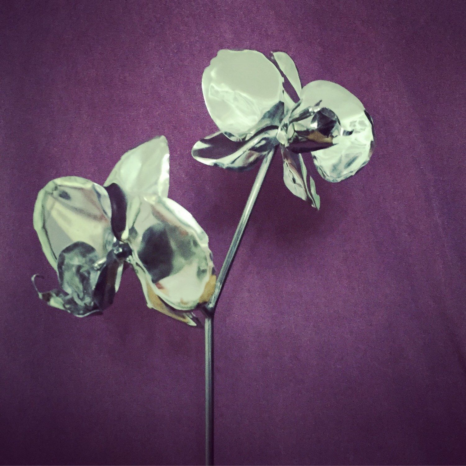 11th anniversary gift steel orchid stainless flower 11th