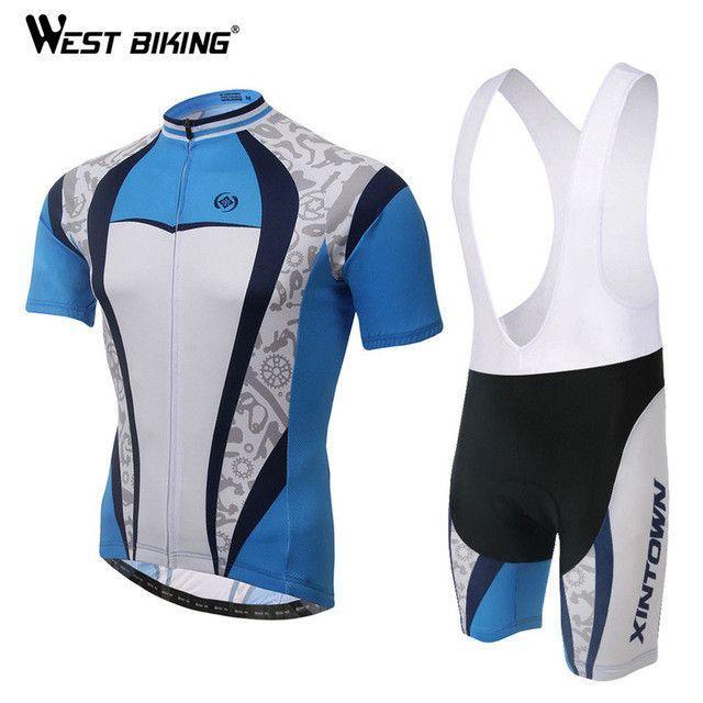 1e46b5685 XINTOWN Cycling Jersey Short Sleeve Jacket Bib Gel Pad Shorts Pants ...