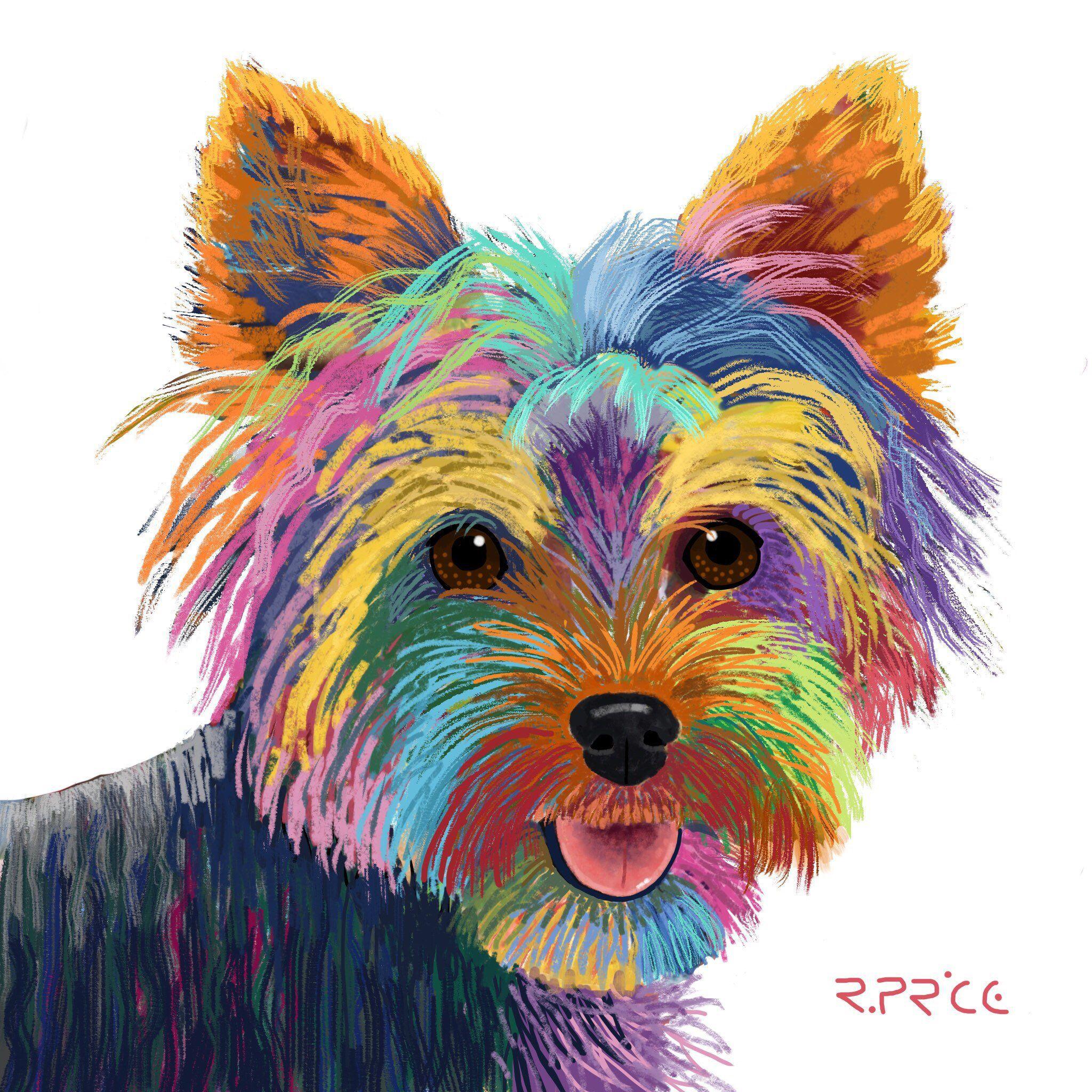 Yorkie Yorkshire Terrier Art Yorkie Image Yorkie Fine Art Etsy Yorkie Painting Fine Art Prints Dachshund Painting