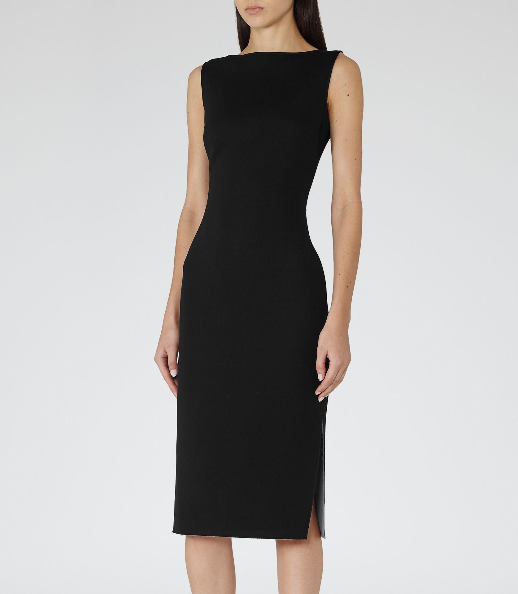 Womens Black/lilac Neoprene Dress - Reiss Melody | Style Yang ...