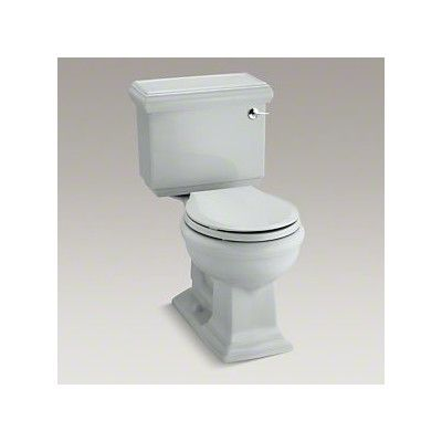 Kohler Memoirs Classic Comfort Height Two Piece Round Front 1 28 Gpf Toilet With Aquapiston Flush Technology And Right Hand Trip Lever Kohler Memoirs White Two Piece Toilet