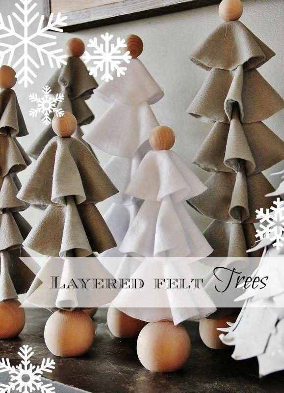 Diy Layered Felt Trees Thistlewood Farm Felt Christmas Tree Holiday Crafts Diy Christmas Decorations Easy