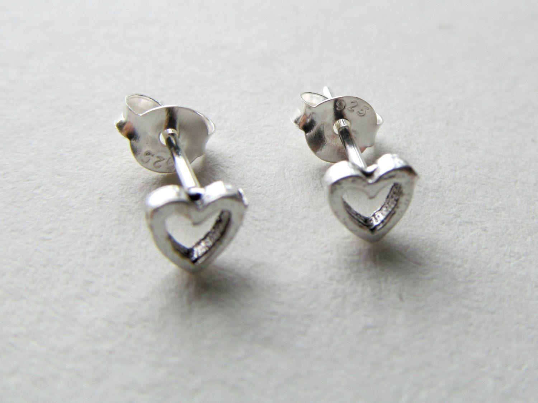 Tiny Heart Earrings, Small Stud Earrings, Little Girl Jewelry, Girls  Earrings, Silver Heart Tiny Studs, 925 Sterling Silver