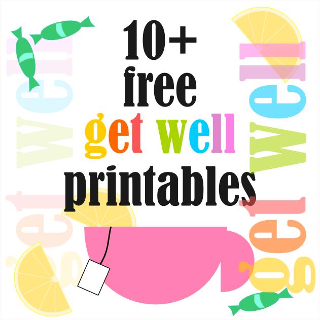 Free Get Well Soon Printables Gute Besserung Druckvorlagen Freebie Free Get Well Cards Printables Free Kids Free Printable Planner Stickers