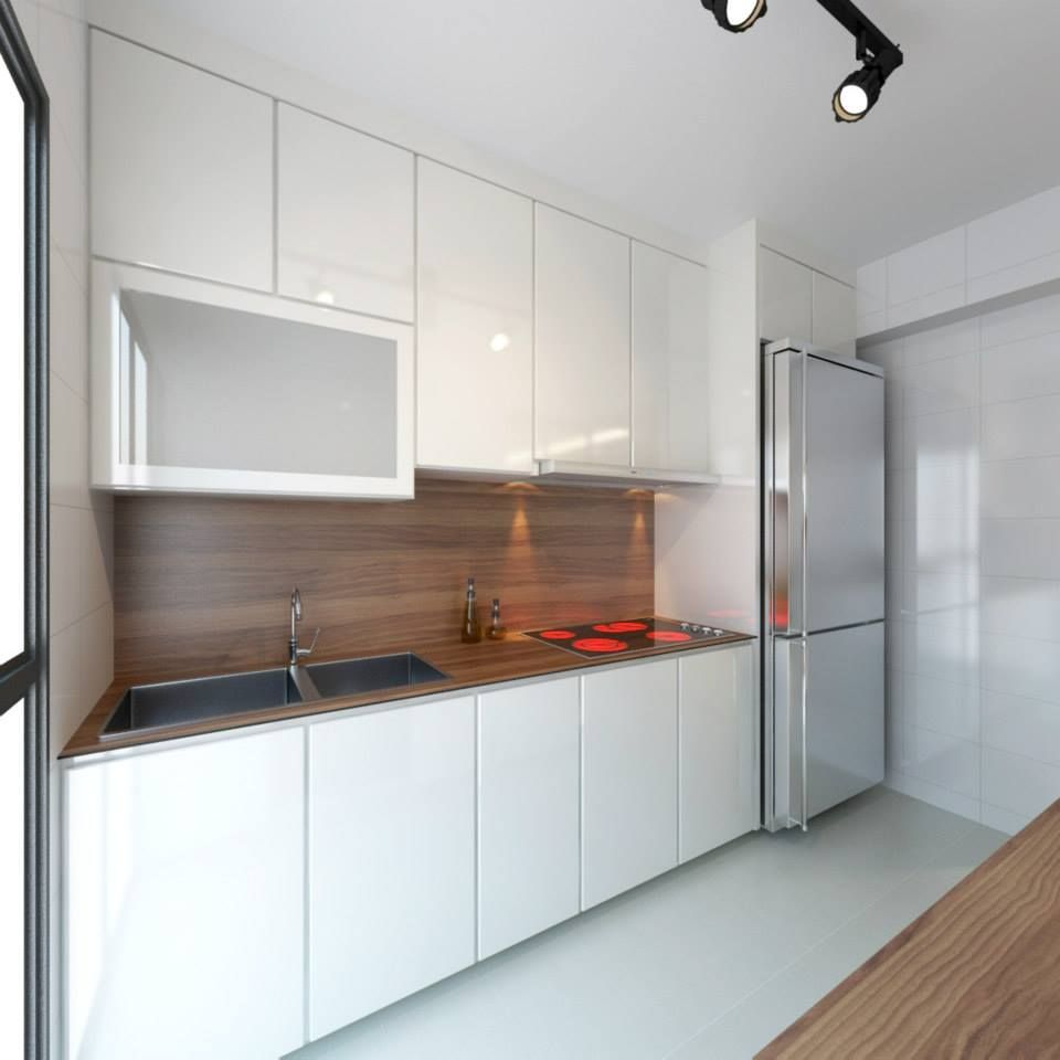 Interior Design For Kitchen For Flats: HDB 4-Room BTO Vintage Contemporary @ Punggol Emerald