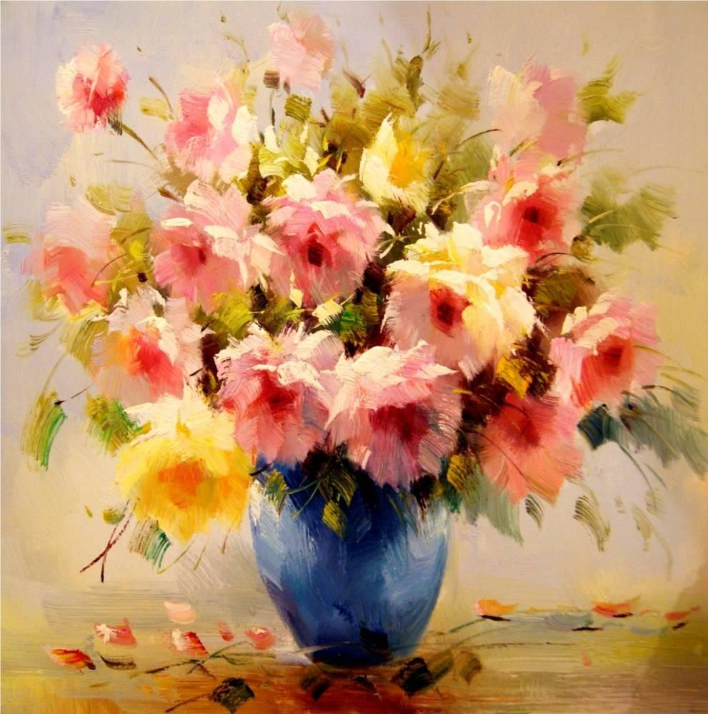 35 Paintings Of Flowers By Famous Artists Flower Painting Images