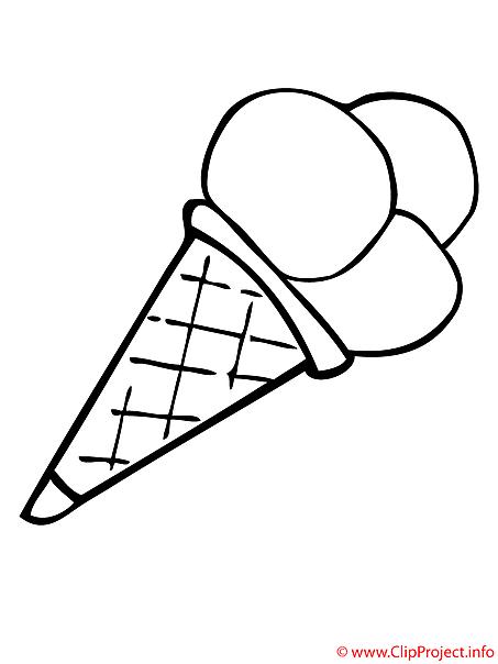 Eis Malvorlage - Malvorlagen Essen Ice cream coloring