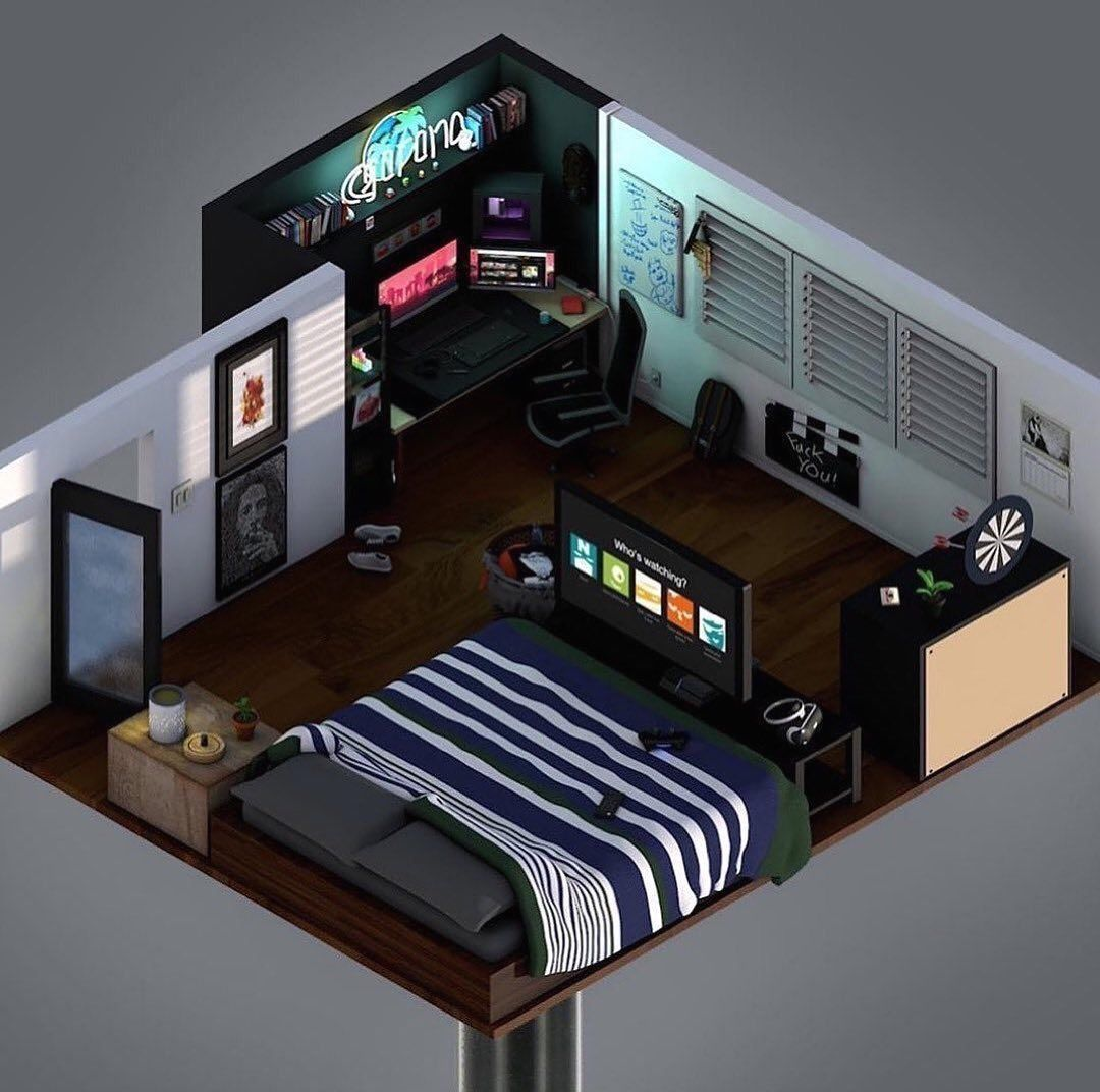 Small Bedroom Dreamroom Gaming Gamer Battlestation Desksetup 1000 Small Game Rooms Bedroom Setup Room Setup