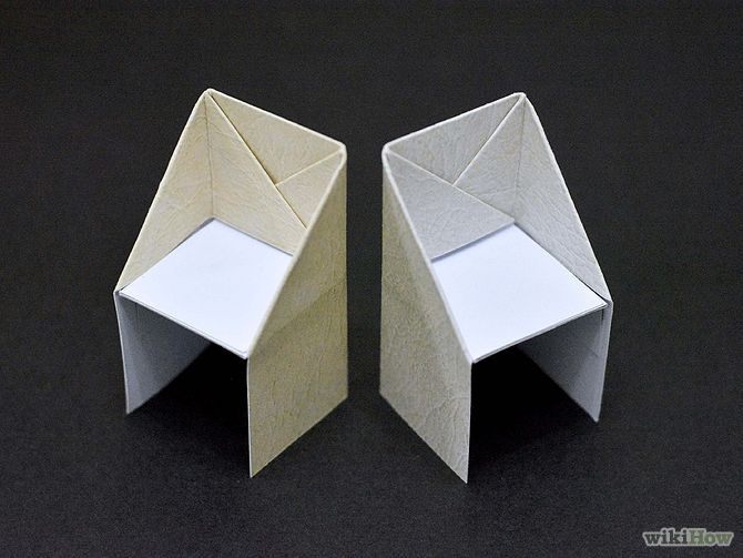 make an origami chair papierkunst kunstunterricht und. Black Bedroom Furniture Sets. Home Design Ideas