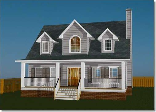 This charming country cottage has a covered front porch for enjoying – Country Cottage House Plans With Porches