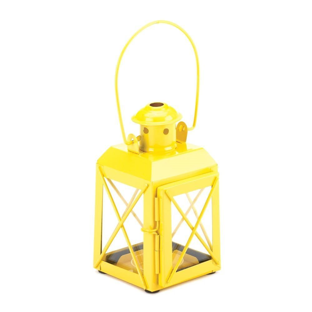 yellow charming lantern railroad candle lamp table centerpieces