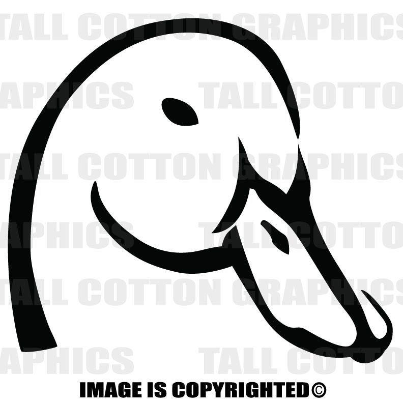 Duck Head Ducks Unlimited Alternative Vinyl Decal For Car Or Truck Window Laptops Computer Cases Or B094 Ducks Unlimited Vinyl Decals Vinyl