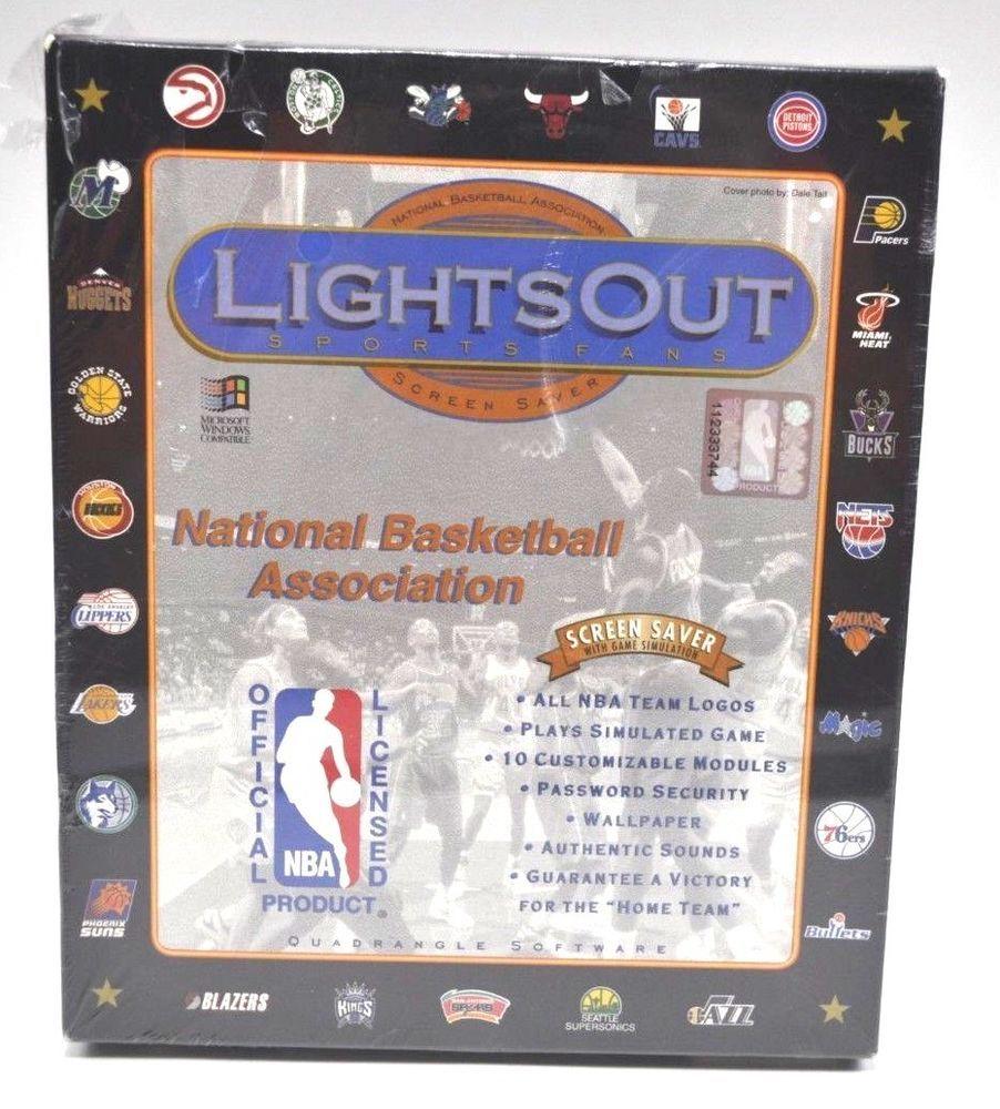 NBA Lights Out Sports Fans Screen Saver Microsoft Windows