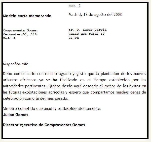modelo-carta-memorandojpg (608×574) memorandum Pinterest
