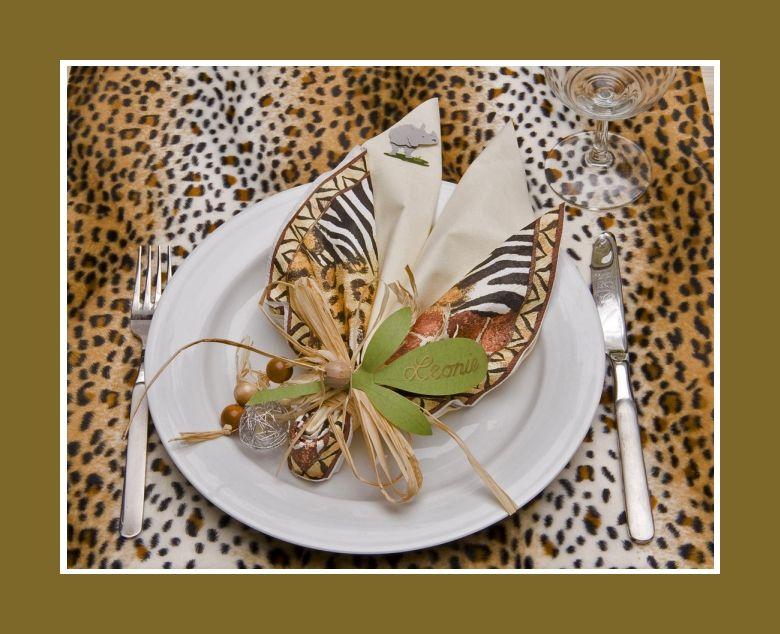 Servietten Falten Blatt Mit Zebramuster Leopardenmuster Fur