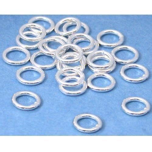 5mm 20 gauge Closed Jump Rings Findings .925 Sterling Silver PACK OF 25