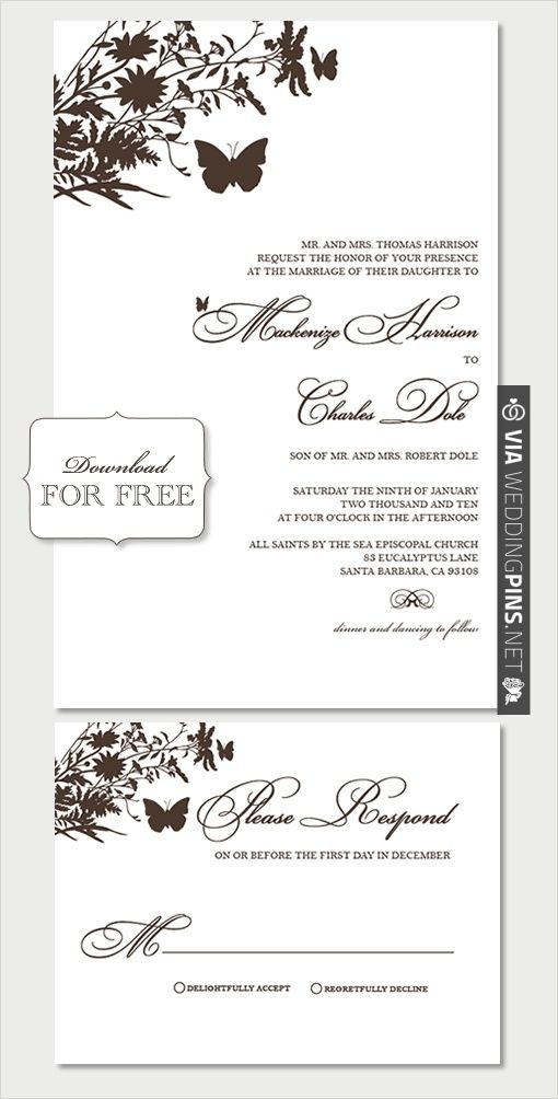 DIY, Do It Yourself, Butterfly Invitations, Butterfly, suite ...