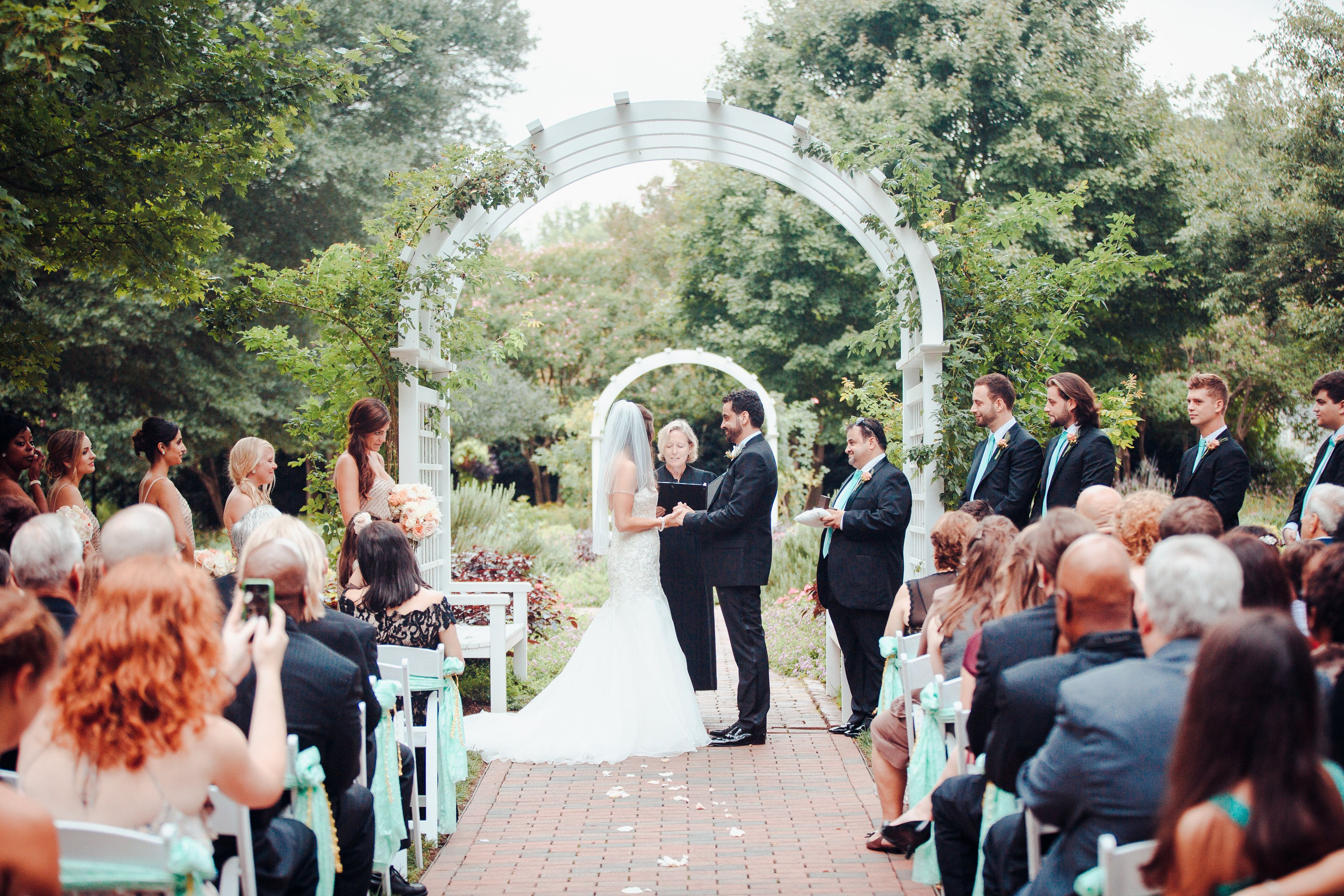 A Wedding Ceremony In Grace As Garden At Bloemendaal House