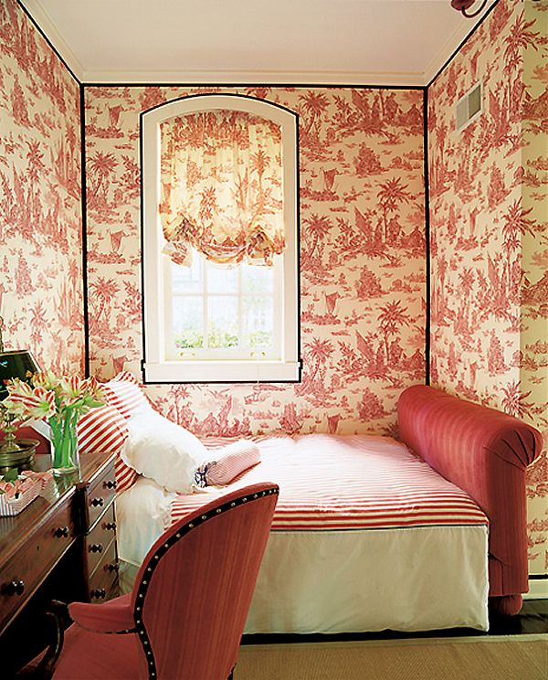 Bedroom | Wallpaper | Interiors | Quadrille, China Seas, Alan Campbell, Home Couture