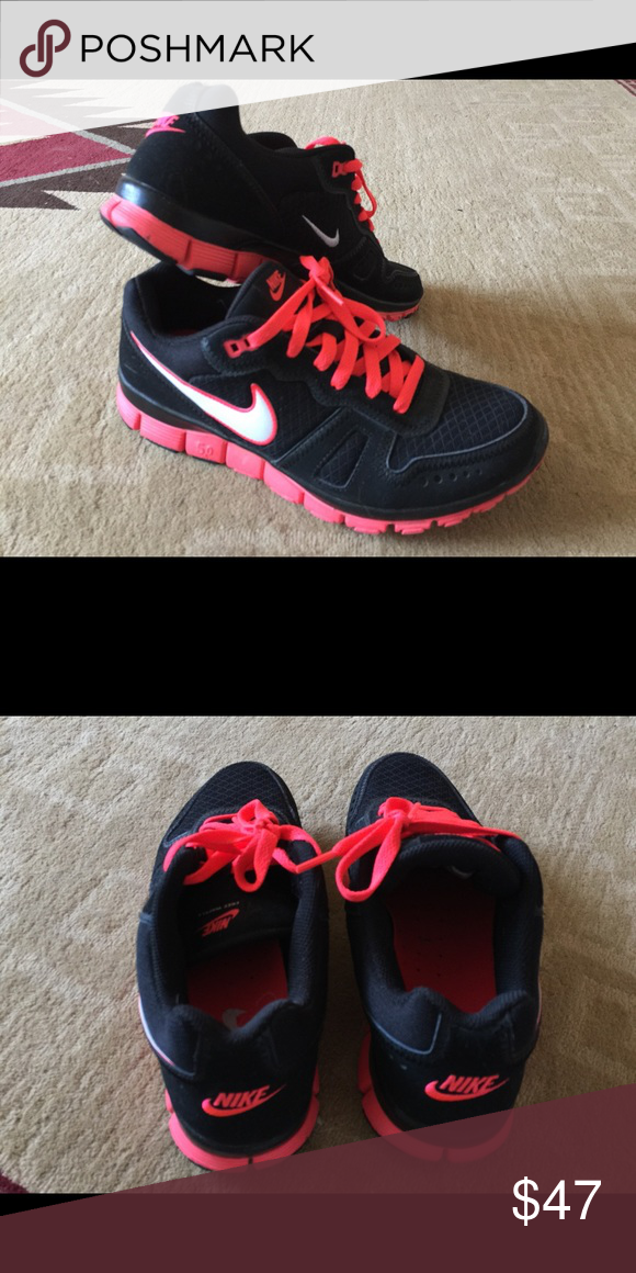 promo code c60d4 a8afa Nike Free Waffle 5.0 sneakers Black and neon coral Nike Sneakers. Gently  worn, in great shape! Nike Shoes Sneakers