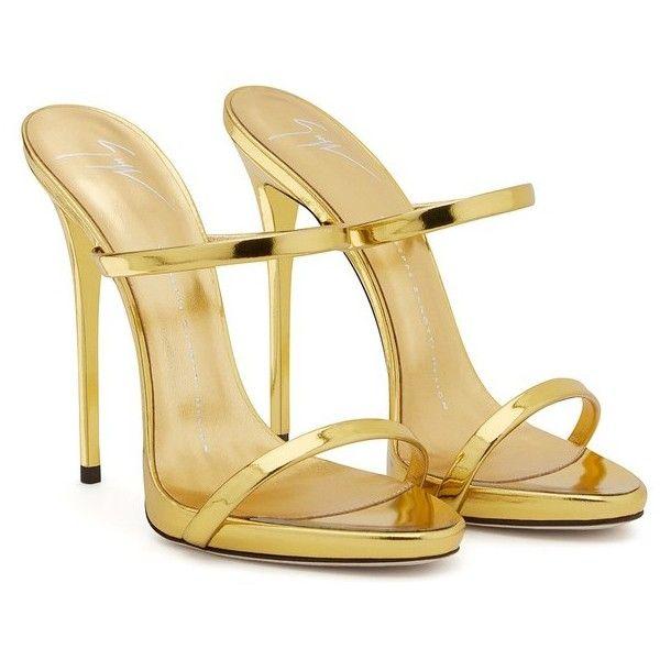 New Style Summer Women shoes sandals Sexy Fashion Stilettos High heels  slides Gold Sandalias Mujer US Size