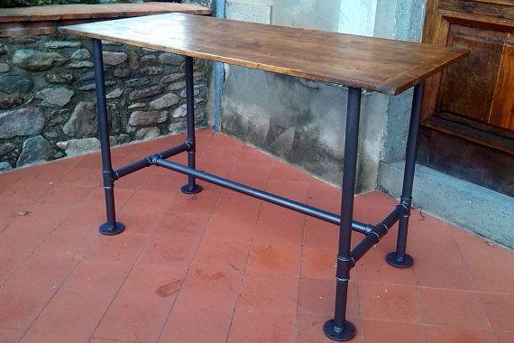 Tavolino Industrial ~ Tavolo industrial style table di afindustrialstyle su etsy