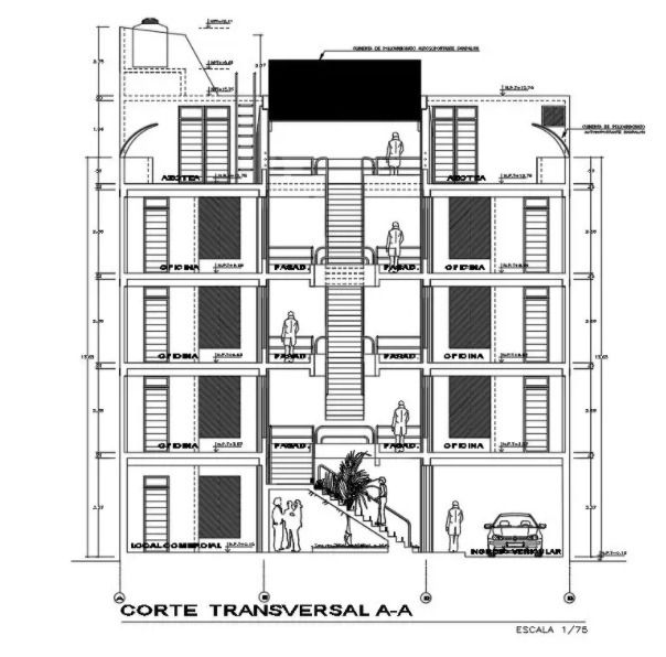 Apartment section design specified in this CAD drawing file