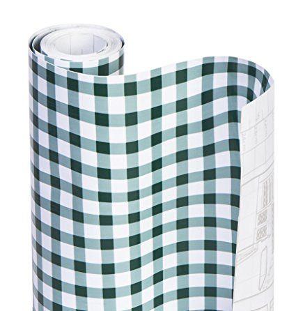 Amazon Com Dazz 8607201 Navy Blue Gingham Adhesive Decorative Shelf Liner Home Kitchen Shelf Liner Wire Shelf Liner Drawer Liner
