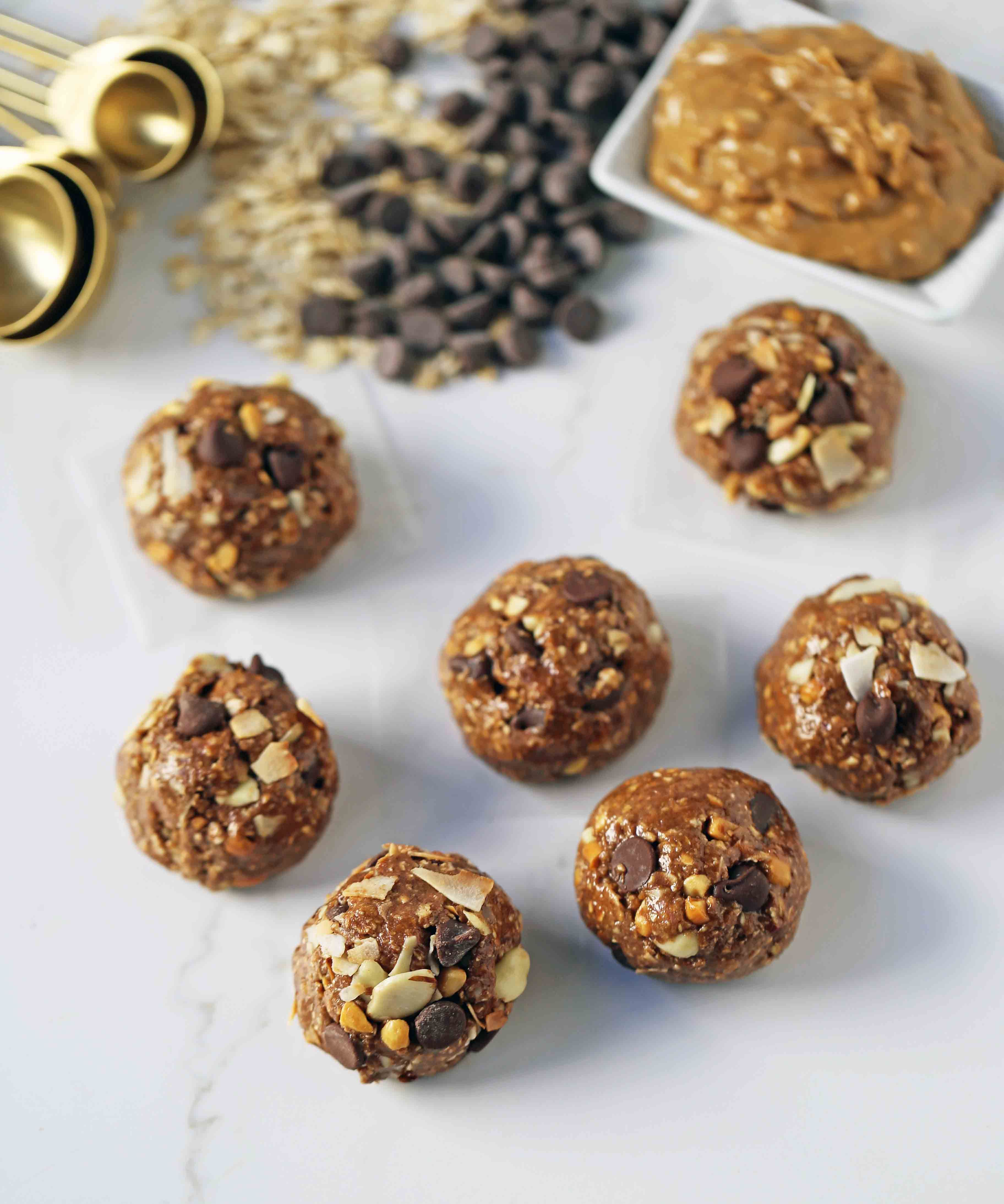 No Bake Protein Energy Balls High Protein No Sugar Added Energy Bites A Healthy Filli Healthy High Protein Snacks Protein Balls Recipes No Bake Energy Bites