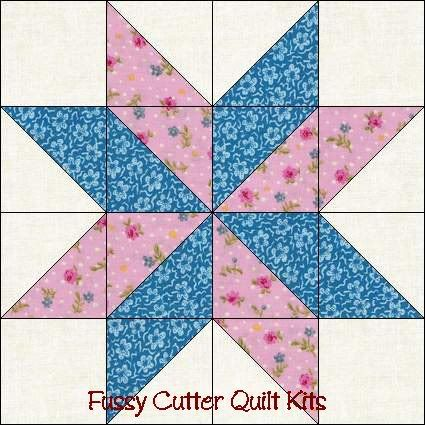 Quilt Patterns Using 12 Inch Squares : Free Easy Quilt Block Patterns ... Points Star Pre-Cut Easy Quilt Top Blocks Kit Fussy Cutter ...