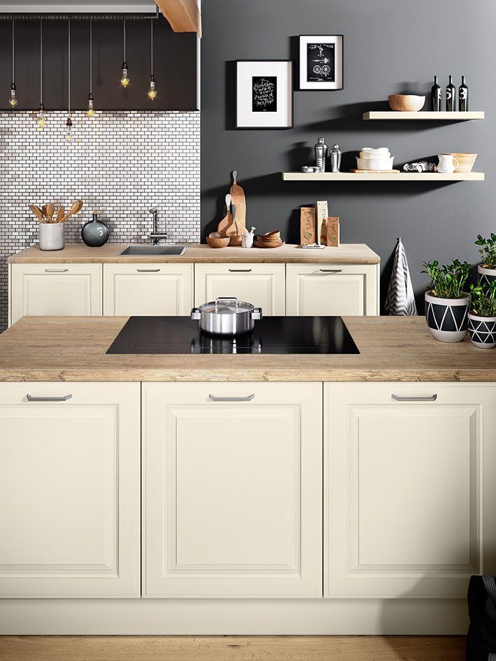 Classic küchen  BREDA Magnolie/ Poduktlinie classic #häckerküchen #häcker #küchen ...