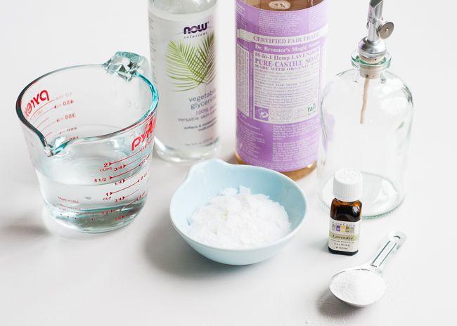 DIY lavender dish soap.