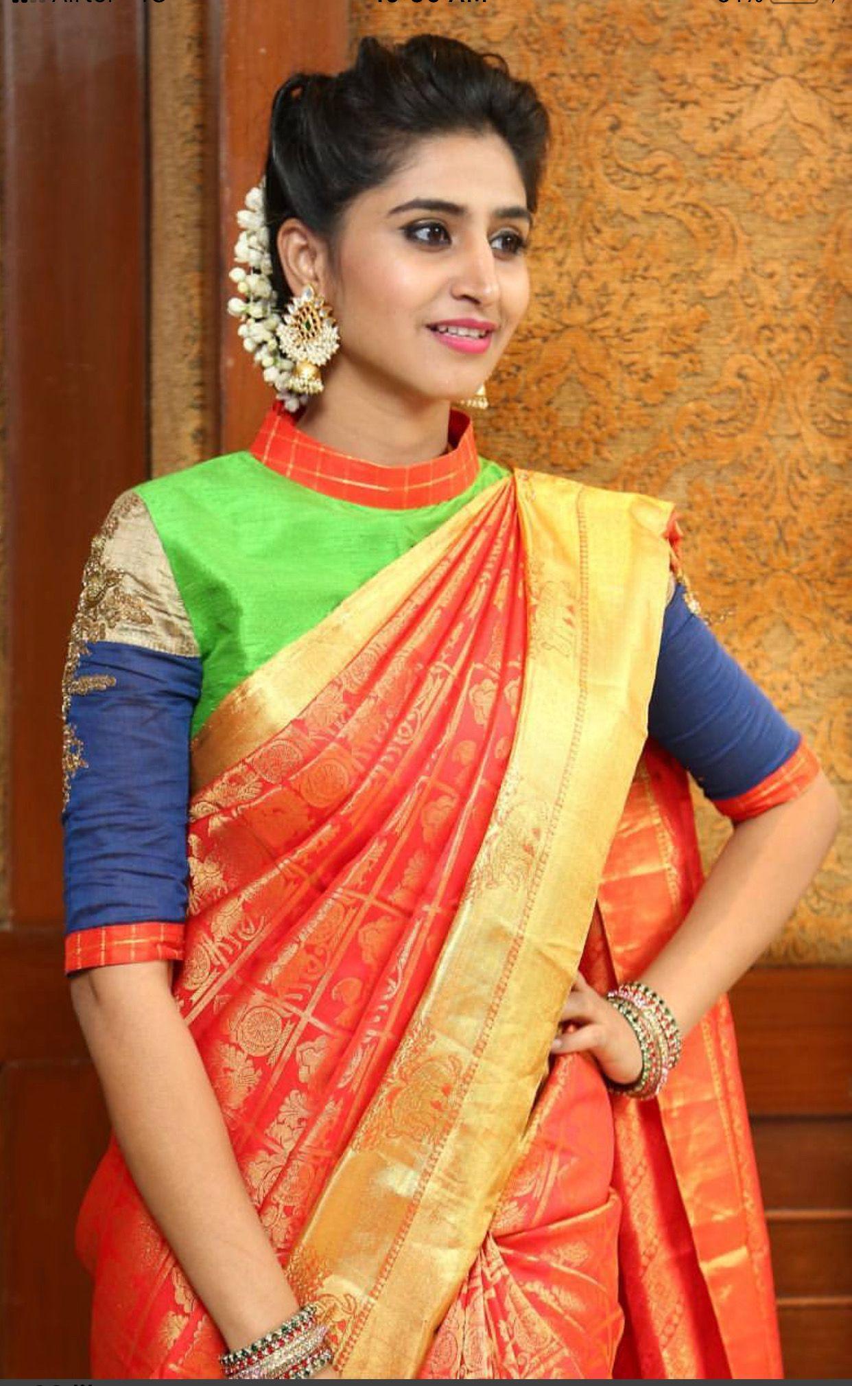 Collar neck blouse also krishna creation adaa presents elliza series exclusive rh pinterest