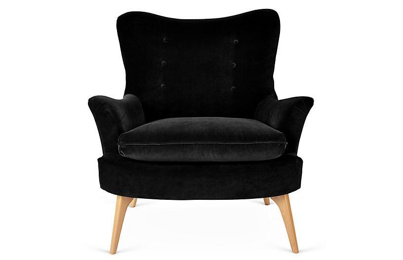 Best Sonja Accent Chair Black Velvet Blue Velvet Chairs 400 x 300
