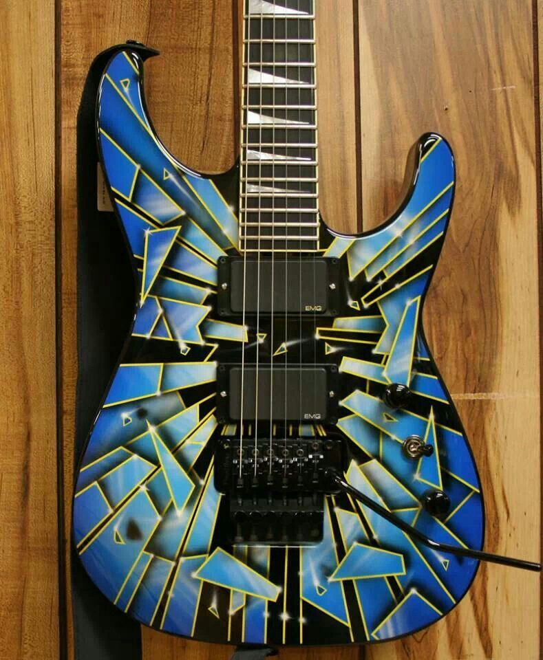 Jackson (With images) Cool electric guitars, Custom