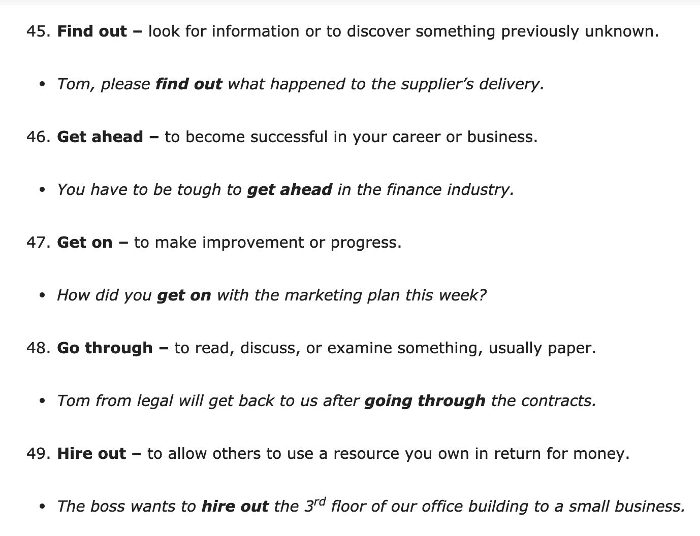 100 Business Phrasal Verbs Verb Worksheets Verb Quiz [ 1056 x 1378 Pixel ]