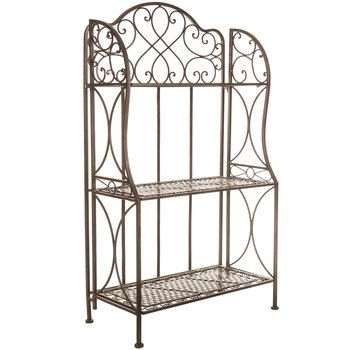 Antique Bronze Iron Three Tiered Baker S Rack Bakers Rack Bakers Rack Decorating Decor