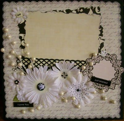 shabby premade wedding scrapbook page picture | Scrap ideas ...