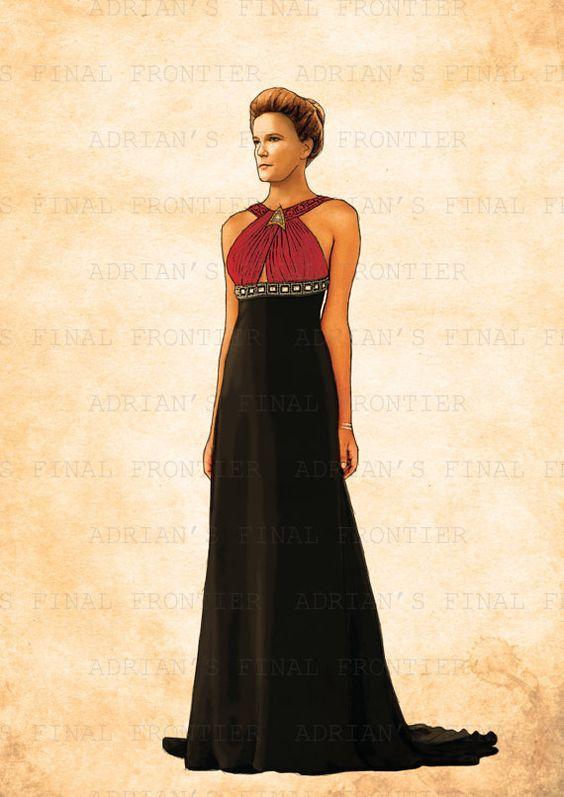 Voyager Cosplay Captain Kathryn Janeway lolita dress Cosplay costume Star Trek