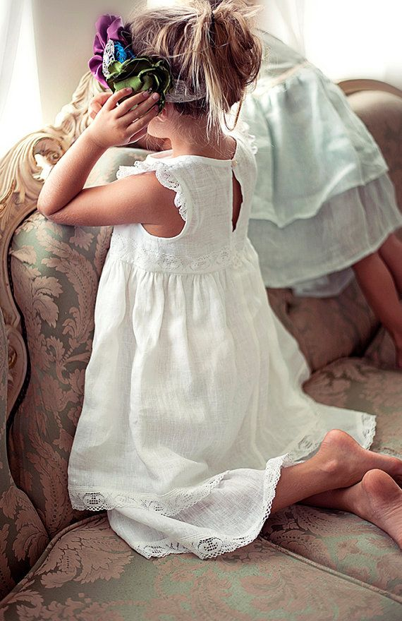 Flower girl dress white flower girl dress girls lace by Sfoshop ...